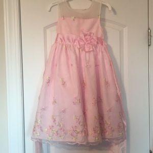 Air fluffed pink spring dress